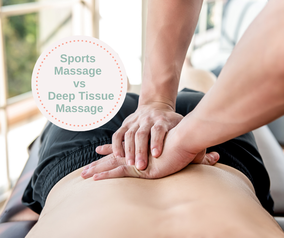 What's the difference between sports and deep tissue massage?